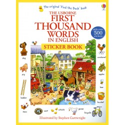First thousand words in English: Sticker book